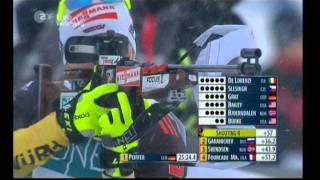 Biathlon Verfolgung der Männer in Oslo 2012(1. PEIFFER Arnd (GER) 2. SVENDSEN Emil Hegle (NOR) 3. GARANICHEV Evgeniy (RUS) 4. FOURCADE Martin (FRA) 5. FAK Jakov (SLO) 6. BURKE Tim ..., 2012-02-04T15:25:58.000Z)