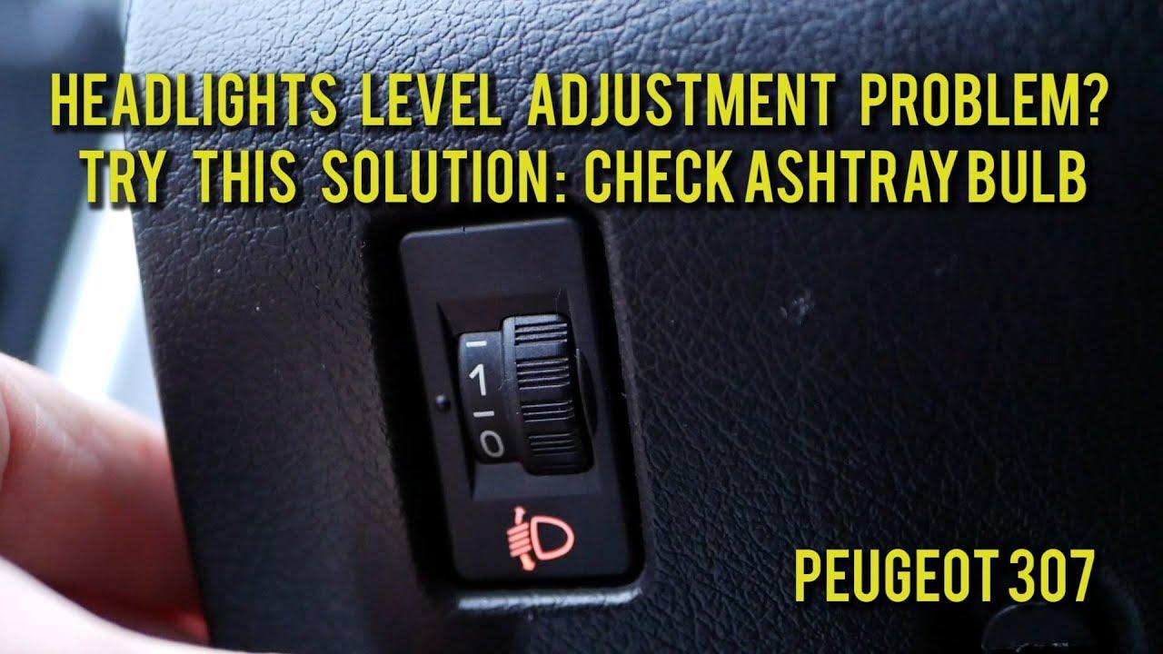 Peugeot 206 headlight adjuster