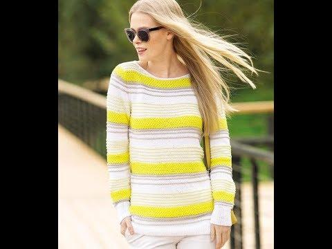 Женский Молодежный Пуловер Спицами - 2019 / Female Youth Pullover Knitting Needles
