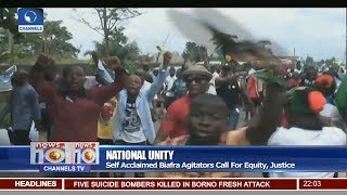 News@10: Self Acclaimed Biafra Agitators Protest In Umuahia, Abia State 28/06/17 Pt. 1