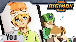 Quick Drawing TK e Patamon-  Digimon Adventure 2