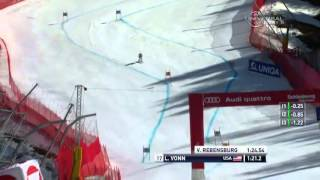 Lindsey Vonn wins 2012 Super G World Cup Globe - from Universal Sports