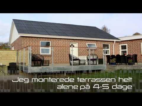 Terrasse til huse med høj kælder eller skrående underlag