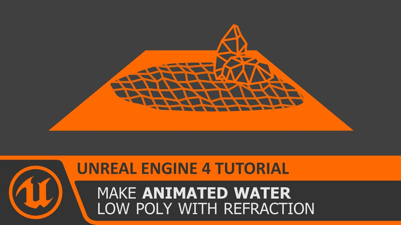 [Unreal Engine 4 Tutorial] Low Poly Animated Water Material with Refraction  (UE4 how to make)