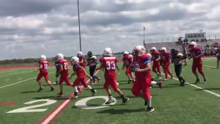 14 year old boy born with half a heart scores touchdown