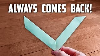How To Make A Working Paper Boomerang | EASY Tutorial
