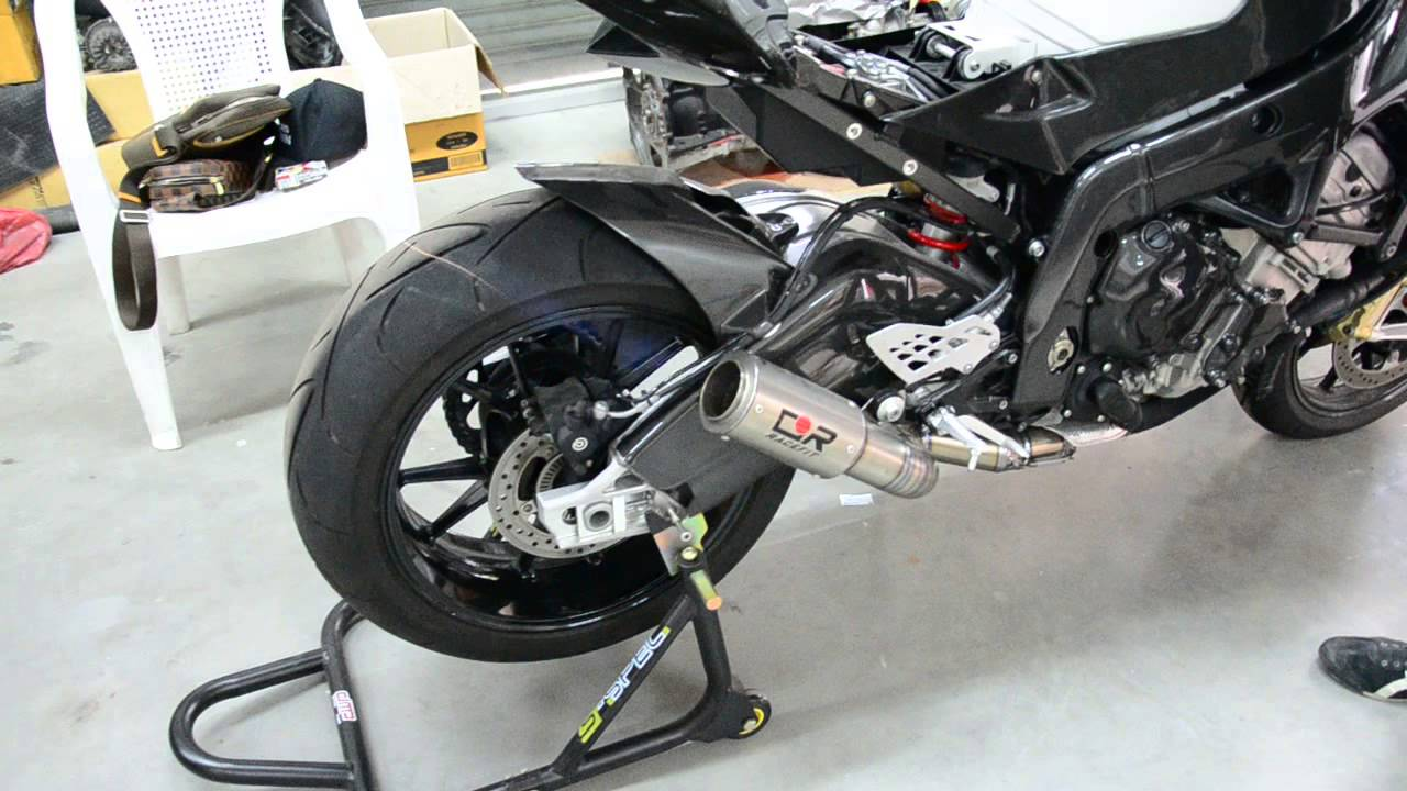 Racefit Black Edition Full system Lobster Back BMW S1000rr 2010 by Powerspeedshop - YouTube