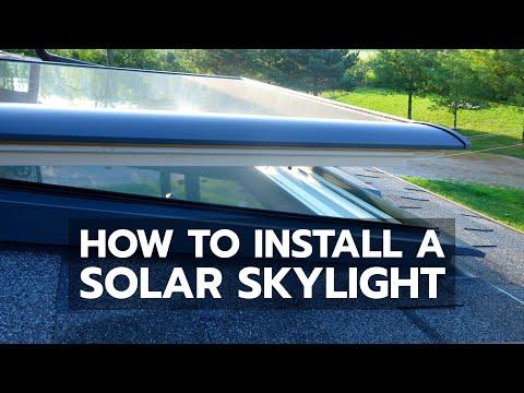 How To Install A Solar Skylight