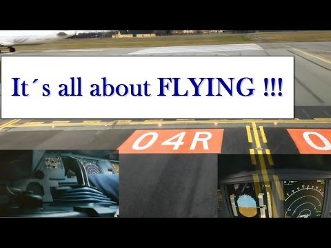 """"""" Its all about flying """" - The Airbus Cockpit - Full flight 3 CAM - 1080 HD Copenhagen to Vagar"""