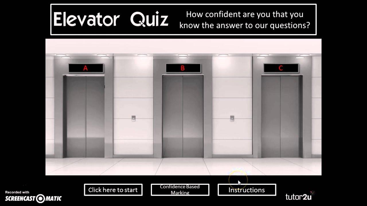 MCQ Teaching Activity: Elevator Quiz