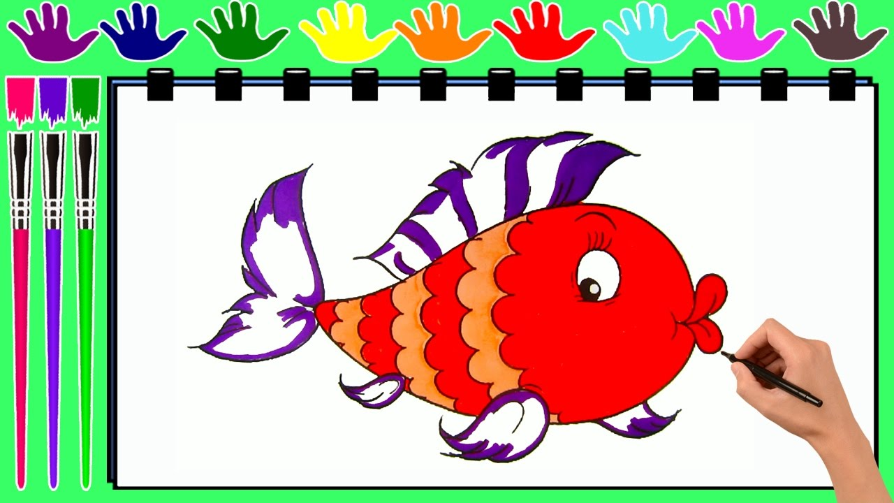 FISH Coloring Pages | Drawing Pages To Color For Kids by KASIMA ...