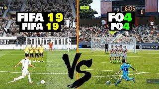 FIFA ONLINE 4 vs FIFA 19 Gameplay Comparison (Free kicks - penalty....) :O !!