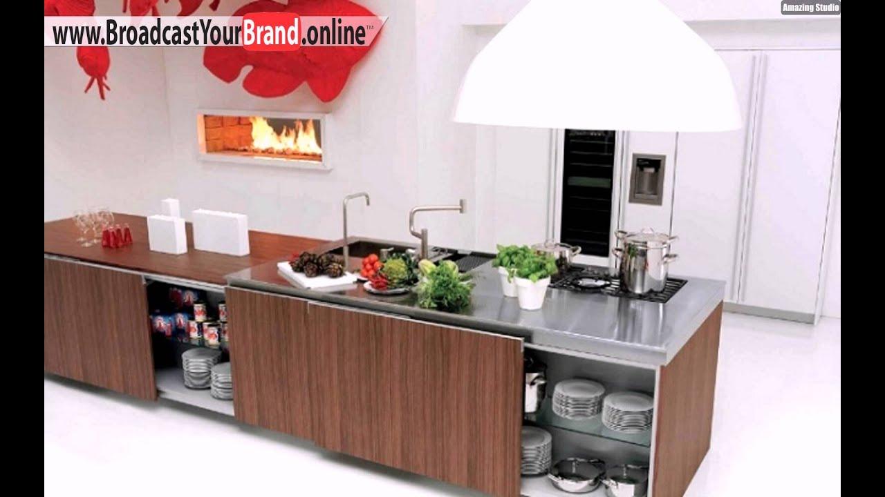 Schiffini Kücheninsel Schiebetüren Schränke Stauraum Holz Stahl