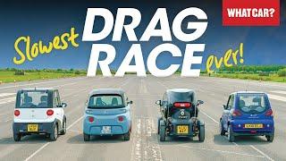 DRAG RACE: Citroen Ami vs Renault Twizy & more – mini electric car battle | What Car?