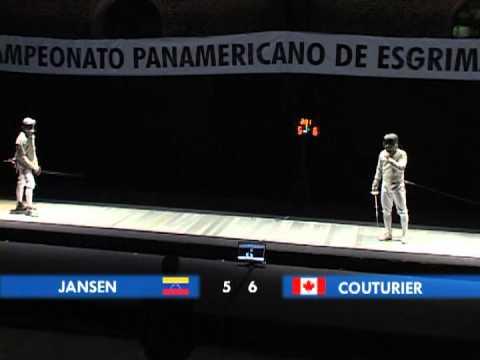 Final sable masculino Panamericano de esgrima San José 2010
