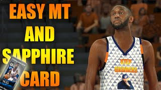 HOW TO MAKE EASY MT & FREE SAPPHIRE CARD IN NBA 2K17 MY TEAM, CUSTOM ARENA & UNIFORMS 2K17 GAMEPLAY
