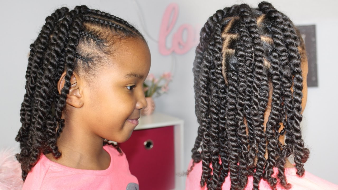 braids & twists | cute & easy protective style ▸ natural hair for kids