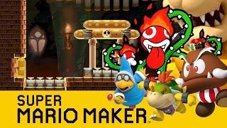 Super Mario Maker : Bowser's Ultimate Doom Castle !!