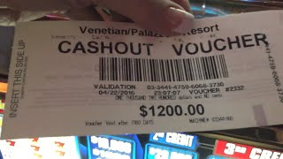 SLOT MACHINE HIGH LIMIT BONUS WINS AT VENETIAN