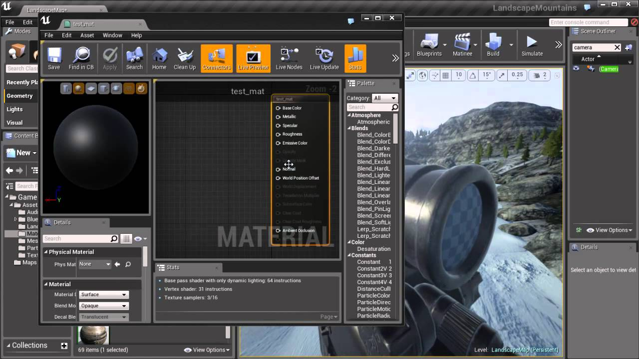 unreal engine how to make materials transparent