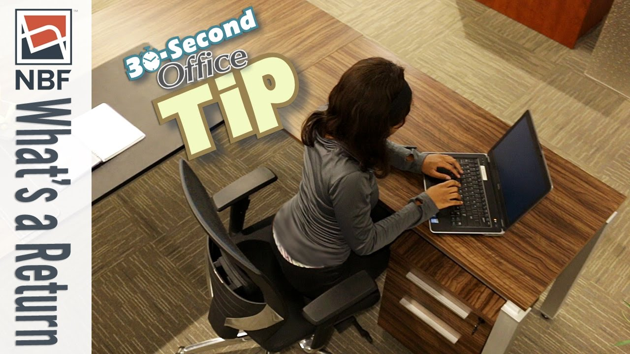 What Is A Desk Return Nbf 30 Second Office Tip Youtube