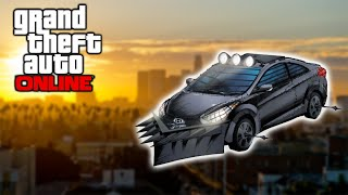GTA 5 Online - Battering Ram, Wheel Spikes, Car Guns Heist Vehicle Ideas (GTA 5 Online Heists)