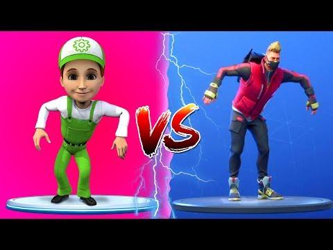 FORTNITE DANCE CHALLENGE - Винтик танцует против доктора полная версия. Кто победит?