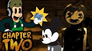 THE INK IS ALIVE?! BENDY AND THE INK MACHINE - CHAPTER 2 [ENDING] | Disney Inspired Horror Game