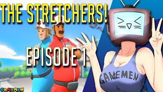 The Stretchers Couch Co-op Let's Play Part 1 | Bob and Lisa! | GAMEMEN