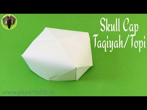 "How to make a Paper ""Skull Cap / Taqiyah / Topi"" - Eid Special - Origami Tutorial"