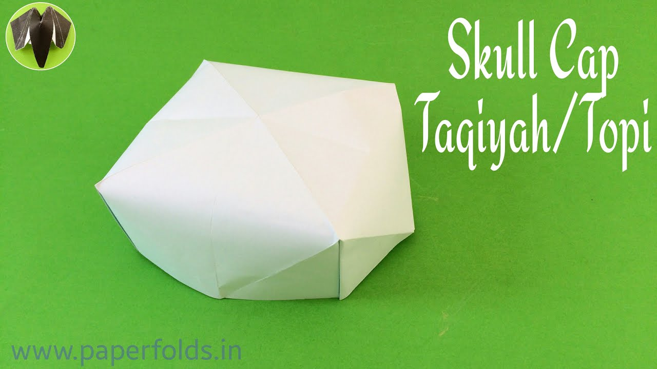 "How to make a Paper ""Skull Cap / Taqiyah / Topi"" - Eid ... - photo#37"
