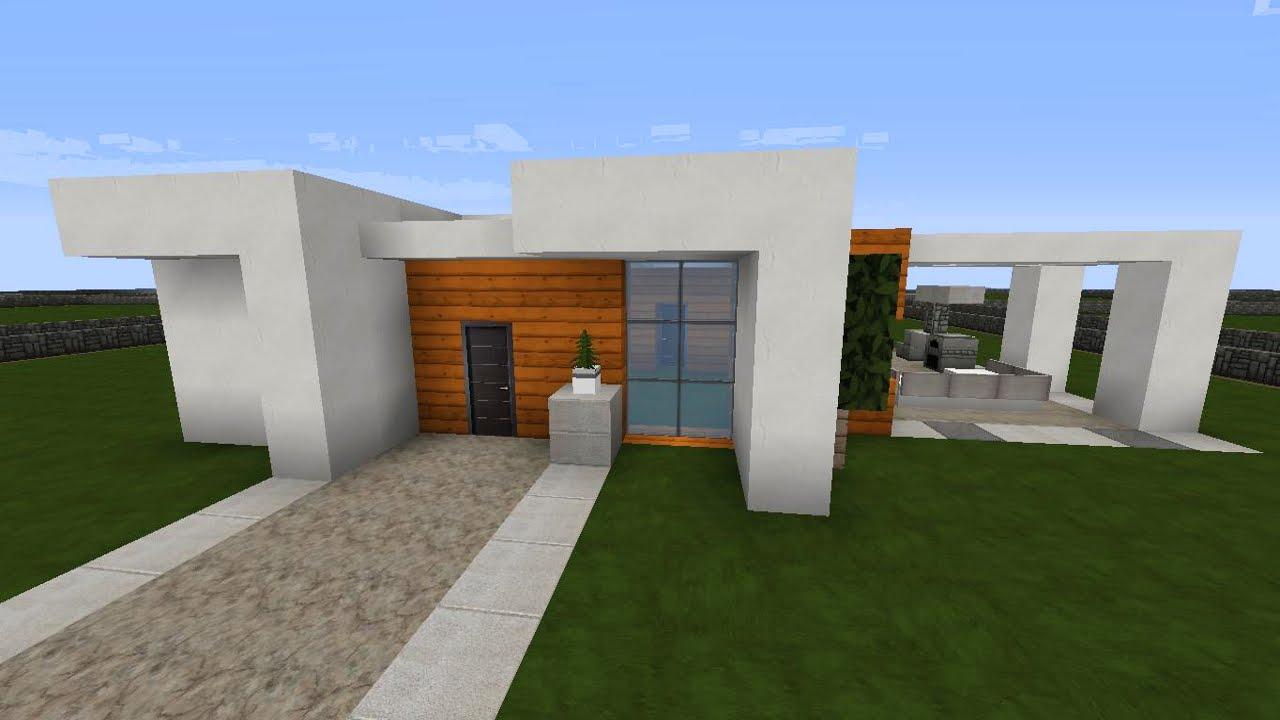 Minecraft Modernes Haus Montag  Akazieweiß Bauen