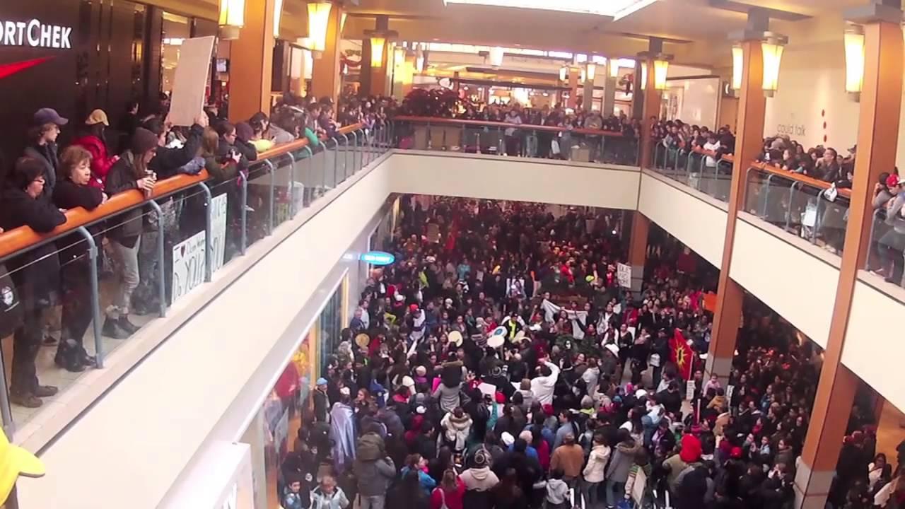 idle no more  flash mob at limeridge mall  hamilton
