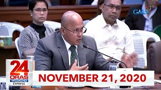 24 Oras Weekend Express: November 21, 2020 [HD]