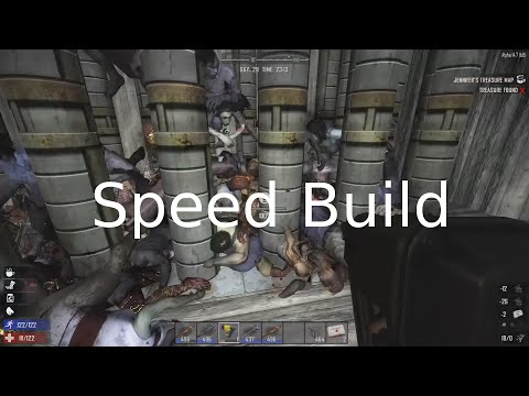 7 Days to Die Tutorial How to Build End Game Bunker Speed Run