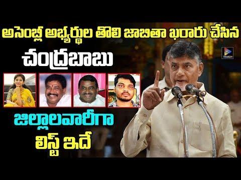 Chandrababu Naidu  Finalised Northandhra and Kostal AndhraTDP Mla Candidates   2019 Elections