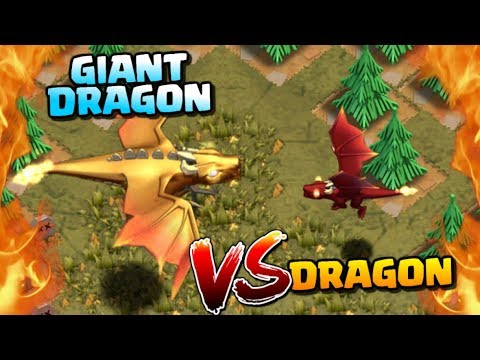 GIANT DRAGON vs DRAGON - NEW Dragon's Lair Goblin Map | Clash of Clans Update!