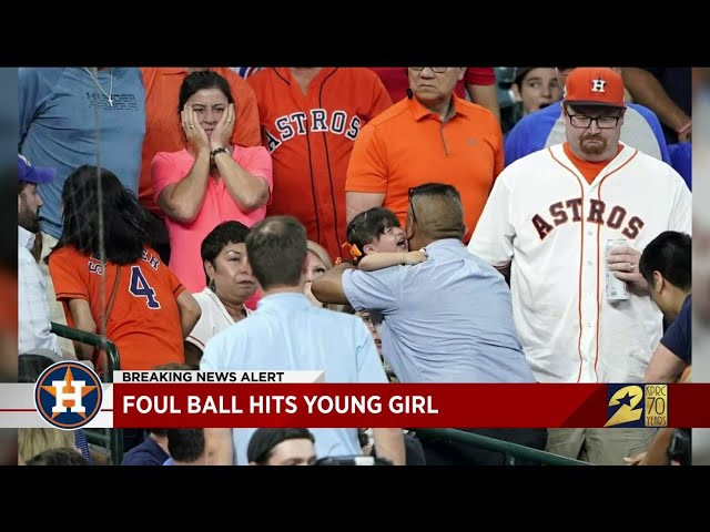 Foul ball hits young girl
