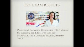 PRC Exam Results: PHARMACIST JANUARY 2016