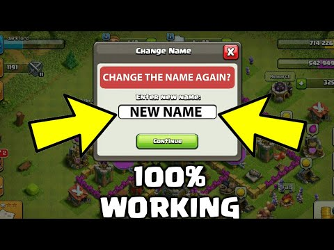 HOW TO CHANGE YOUR NAME 3rd TIME IN CLASH OF CLANS UNLIMITED! JAN 2017 | COC Gameplay 2017