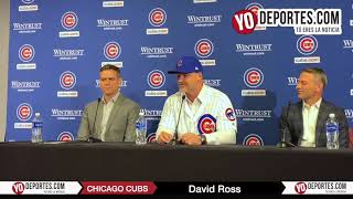 David Ross Chicago Cubs Manager press conference at Wrigley Field