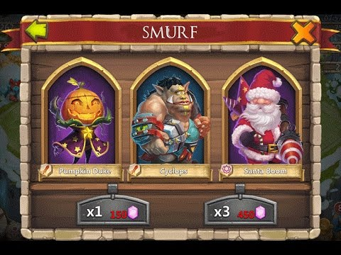 Castle Clash Super Lucky Gem Rolls!.. On My Smurf