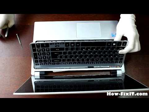 How To Replace Keyboard On Acer Aspire V5-531, V5-571 Laptop