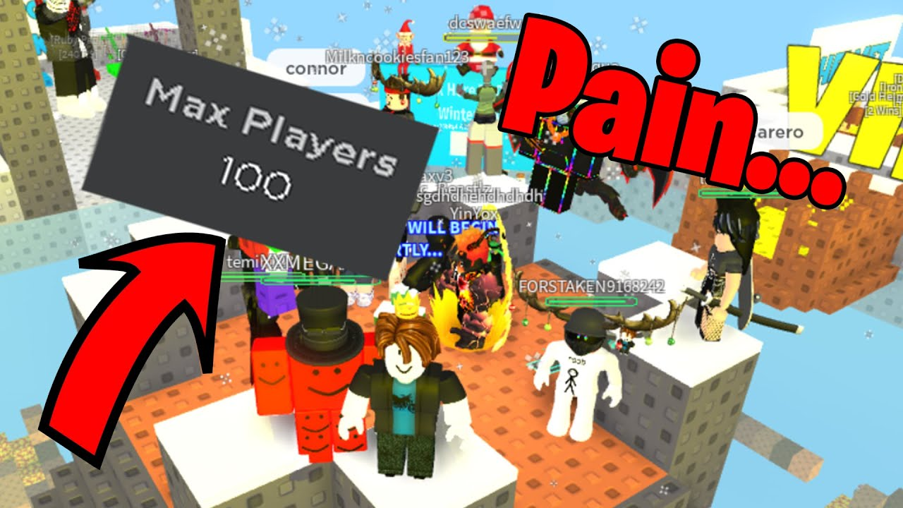 Skywars but with 100 Players! | Roblox Skywars
