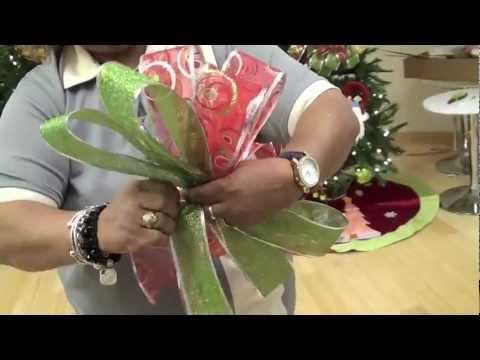 taller de decoracin en casa febus cmo hacer un lazo o moo de navidad