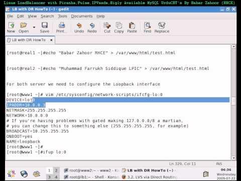 WEB Server (Real Server) Configurations Load Balancer UrduCBTs on CentOS RedHat Linux