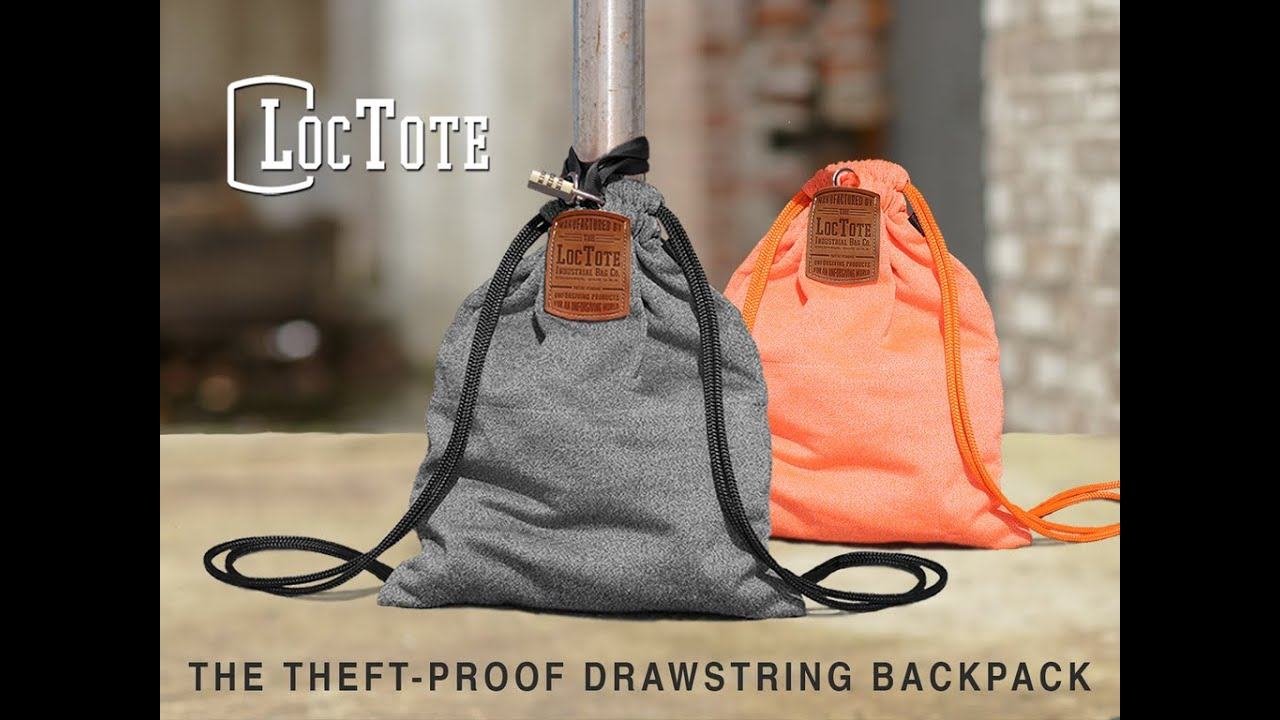 The Theft Proof Drawstring Backpack On Kickstarter Youtube