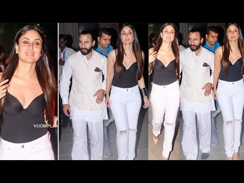 Kareena Kapoor Khan looking gorgeous with hubby Saif Ali Khan for Bazaar Screening !