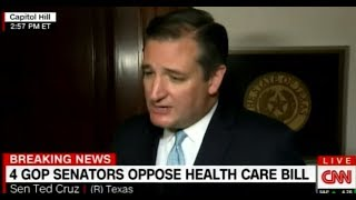 Ted Cruz: Senate GOP Healthcare Bill Doesn't Lower Costs