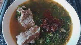 Корейский суп 'Сиради Тямури'